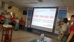 Nhật Lâm tham gia Hội thi nấu ăn tại Công ty TNHH TOTO Việt Nam