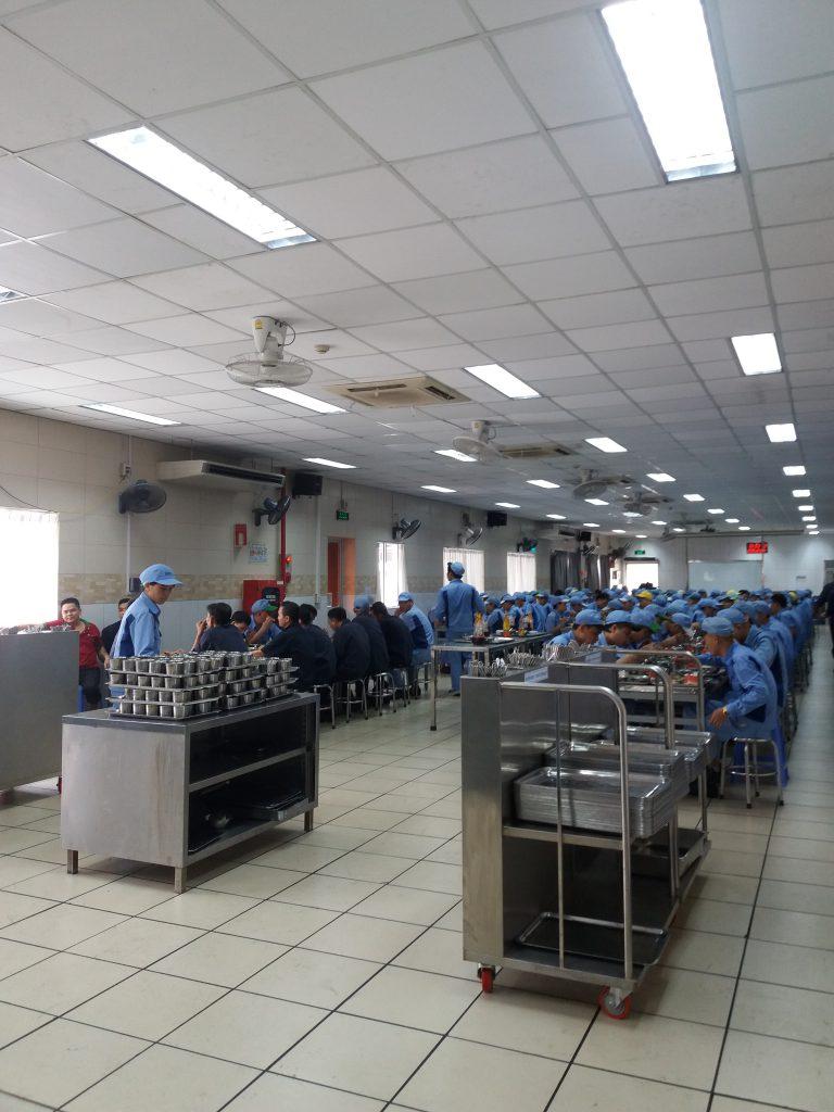 Khu vực ăn uống của công nhân nhà máy Inoue